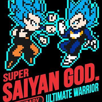 Dragon Ball Super - 8-bit Super Saiyan Blue by SenorFiredude