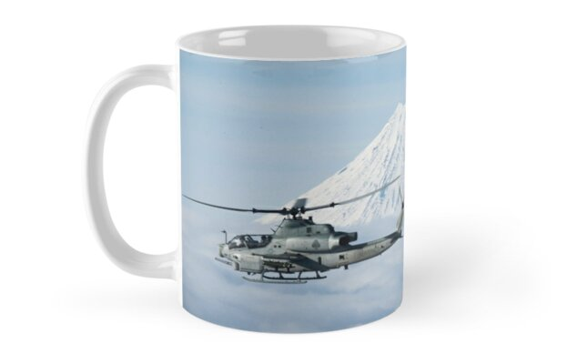 Bell AH-1Z Viper and Bell UH-1Y Venom pass Mount Fuji by Xcess