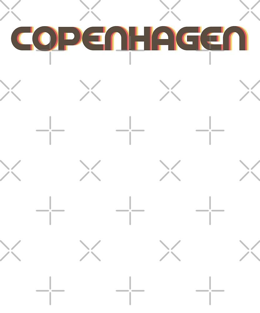 Retro Copenhagen T-Shirt by designkitsch