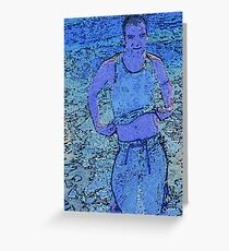 Blue Jeremy Greeting Card