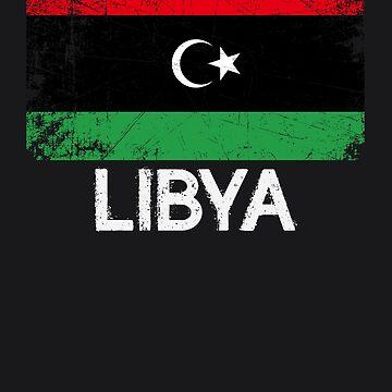 Libyan Flag Design   Vintage Made In Libya Gift by melsens