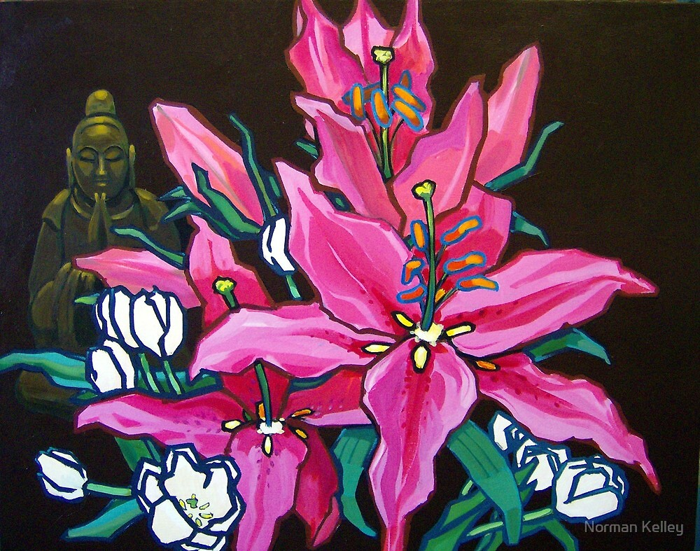 Chinese Lilly and Bhudda  by Norman Kelley