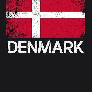 Danish Flag Design   Vintage Made In Denmark Gift by melsens