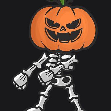 Floss Like A Boss Skeleton Art   Halloween Pumpkin Skull by melsens