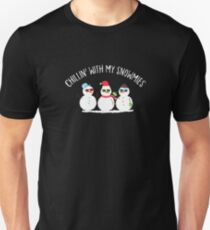 Chillin With My Snowmies Snowman Christmas Gift Unisex T-Shirt