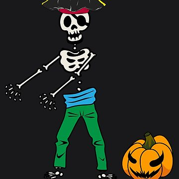 Floss Dance Skeleton Pirate Art | Halloween Flossing Gift by melsens