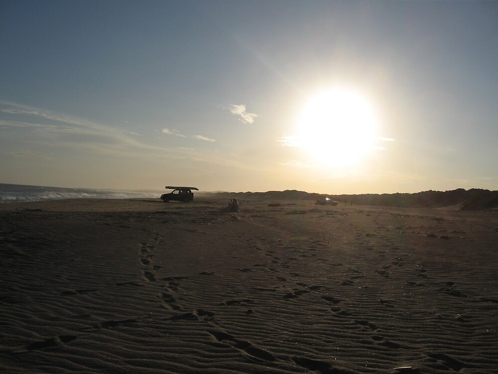 Beach sunset  by IlkaW