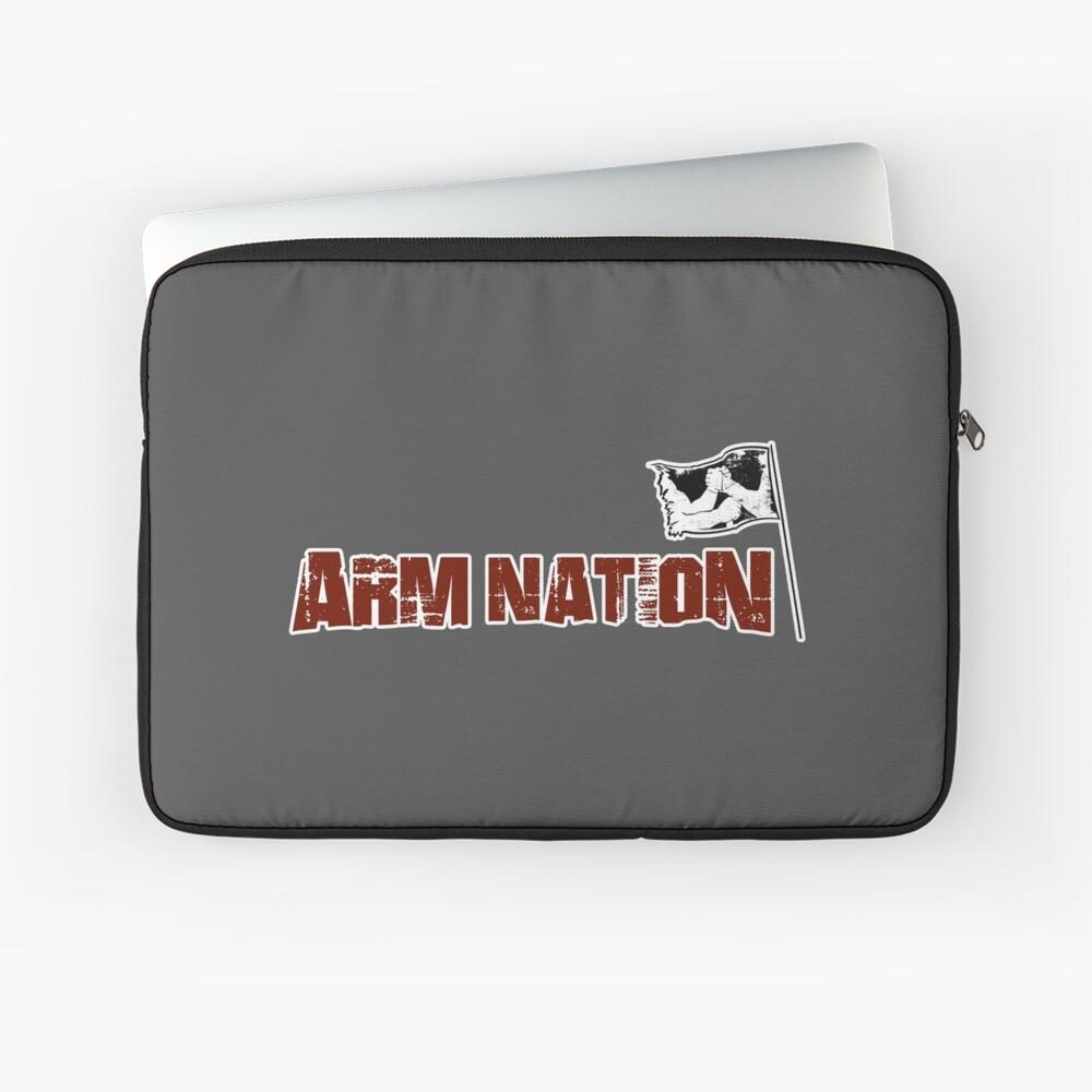 Arm Nation Merchandise Laptop Sleeve Front