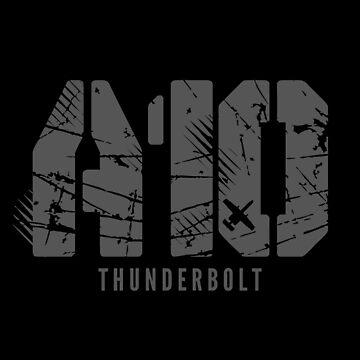 A-10 Warthog Thunderbolt | Attack Jet A-10 Brrrrrrrt T-Shirt by JohnPhillips