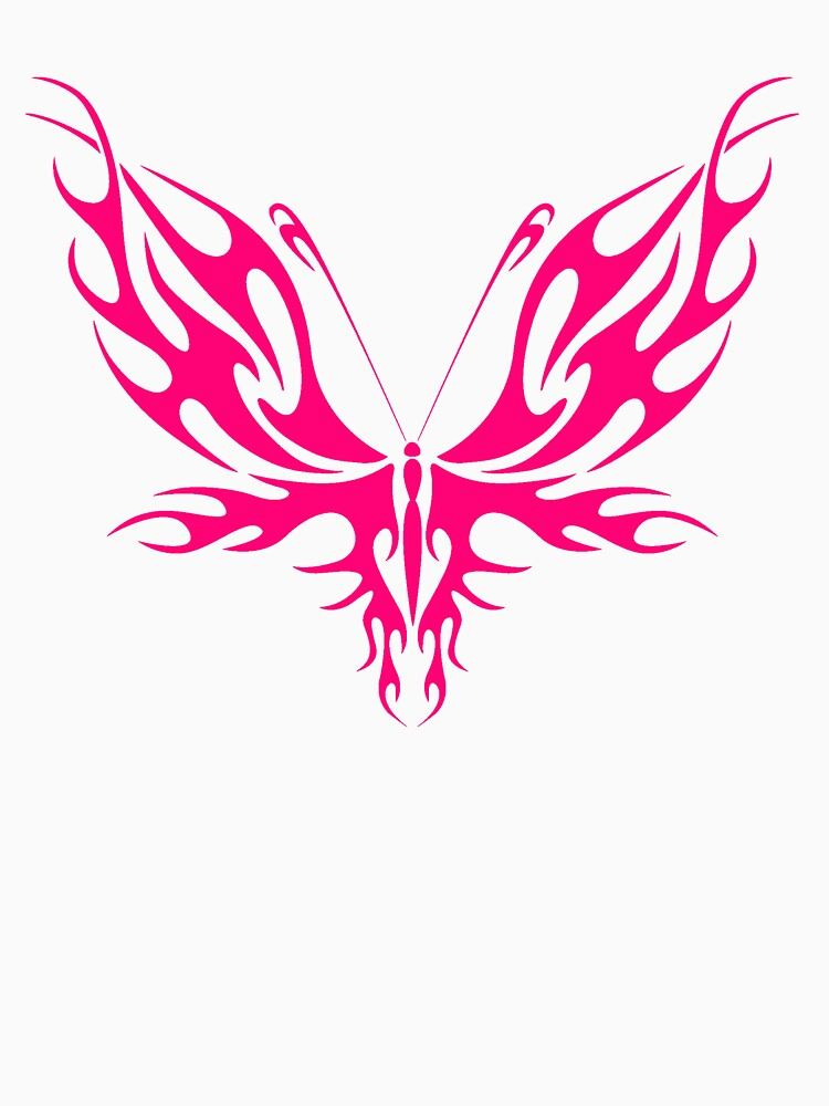 PINK TRIBAL BUTTERFLY by dgpaul