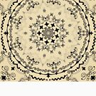 Mandala Project 829 | Black on Cream by BohoBear