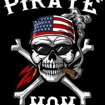 Pirate Mom Skull Jolly Roger Sailor Captain by underheaven