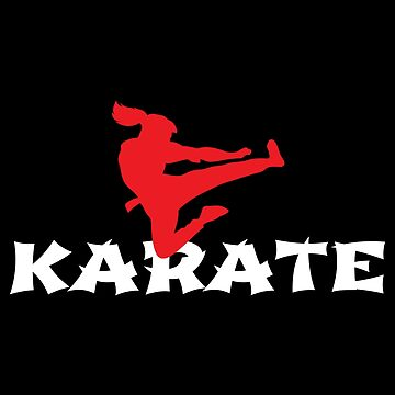 Karate girl jumping side kick Martial Arts - Gift Idea by vicoli-shirts