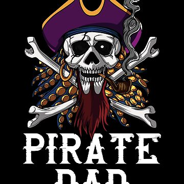 Pirate Dad Skull Crossbones Jolly Roger Captain by underheaven