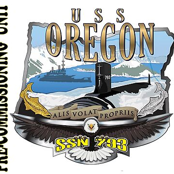 USS Oregon SSN-792 Pre-commissioning Unit Crest by Spacestuffplus