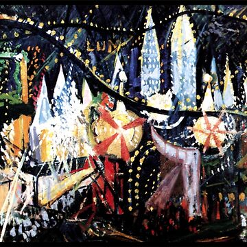 Luna Park, lively painting by American artist by virginia50