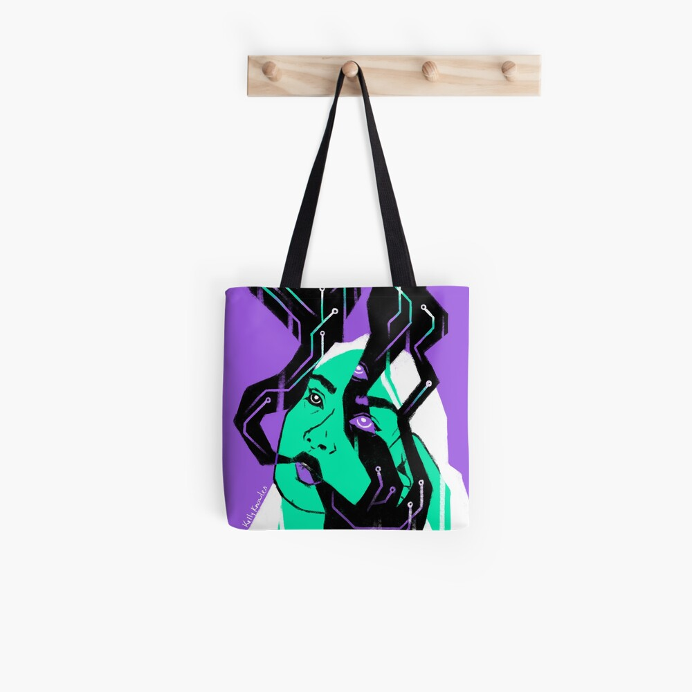 Glitch Witch Tote Bag