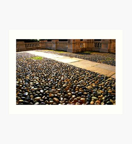 It's the patterns on the ground....... Art Print