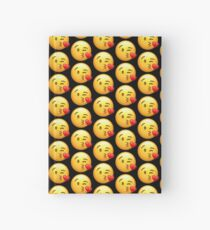 Face Blowing a Kiss Emoji Hardcover Journal