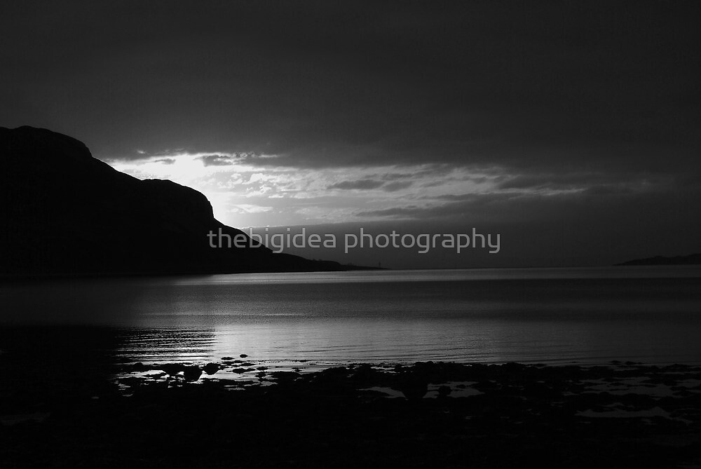 holy isle on black and white  by clara  caulfield