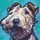 «Fun Wire Hair Fox Terrier Dog brillante colorido Pop Art» de bentnotbroken11