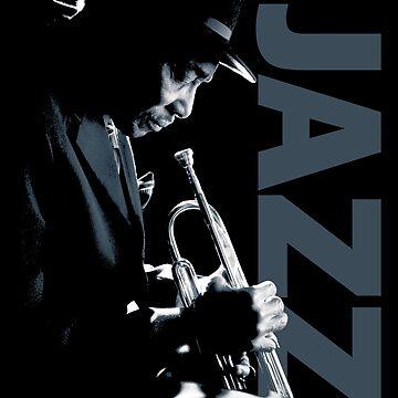 Atmospheric Jazz Trumpet Player  by gorillamerch