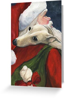 «Greyhound and Santa » de Charlotte Yealey