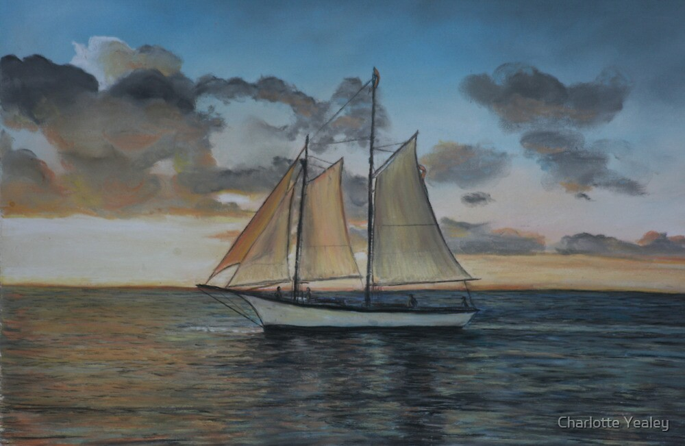 Sunset Sail by Charlotte Yealey