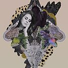 Lana Del Ray mixed media collage by vasarenar