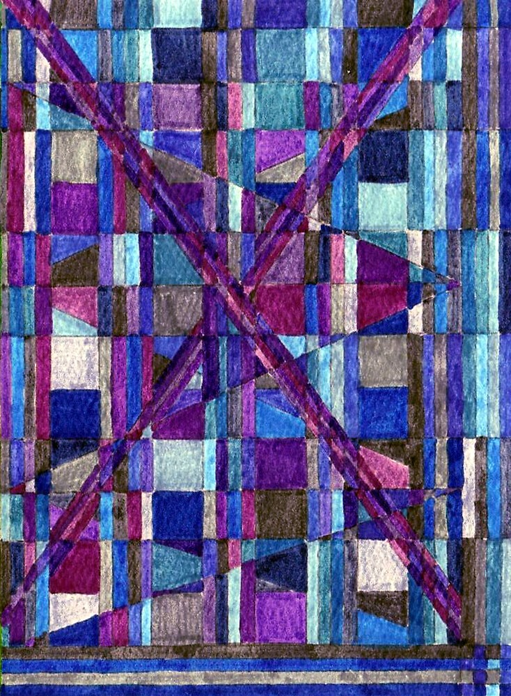 Abstract Art Study - Blues & Purples by Oldetimemercan