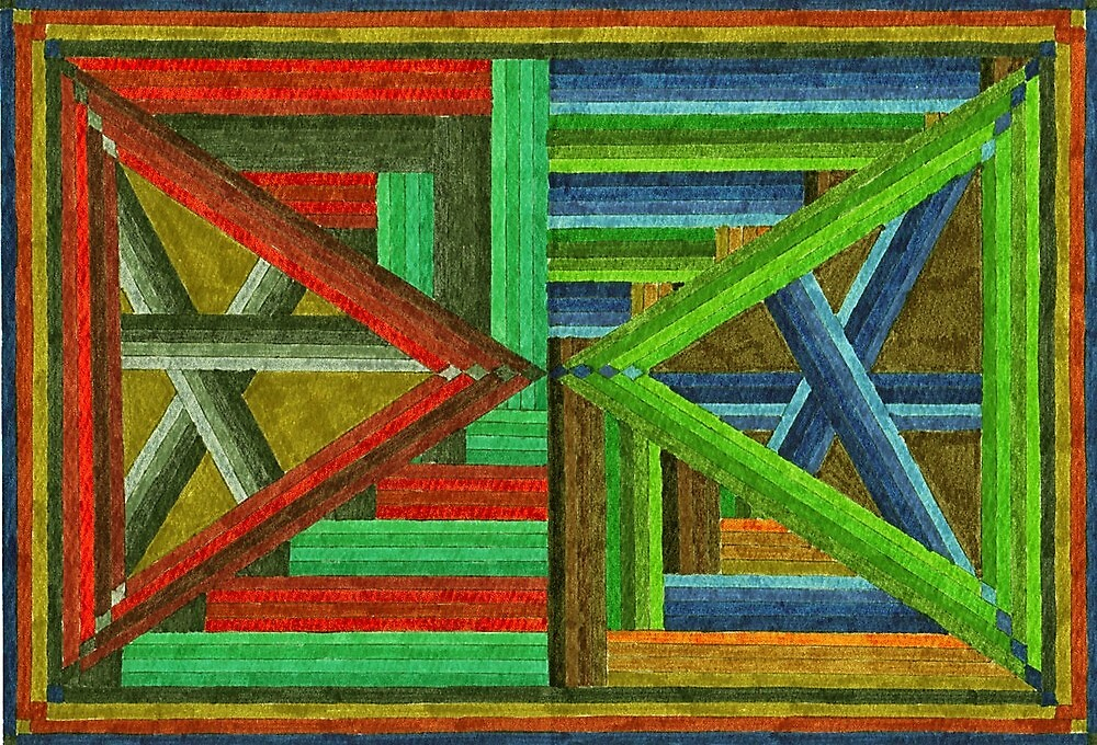 Abstract Art Study - Double Triangles by Oldetimemercan