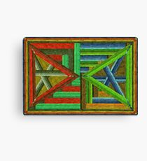 Abstract Art Study - Double Triangles Canvas Print