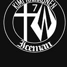 Kimi Raikkonen Emblem - White by evenstarsaima