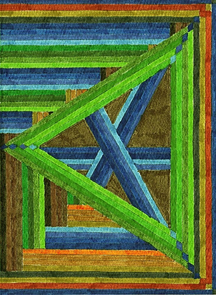 Abstract Art Study - Left Triangle by Oldetimemercan