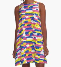 A Study in Psychedelica in Acrylic A-Line Dress