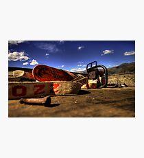 Sunny Chainsaw  Photographic Print