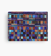 Abstract Art Study - Blues & Browns Canvas Print