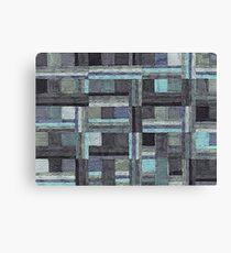 Abstract Art Study - Grey Stripes Canvas Print
