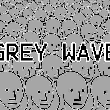 NPC Crowd - Grey Wave Variant #1 - Wojak by RebarForOwt