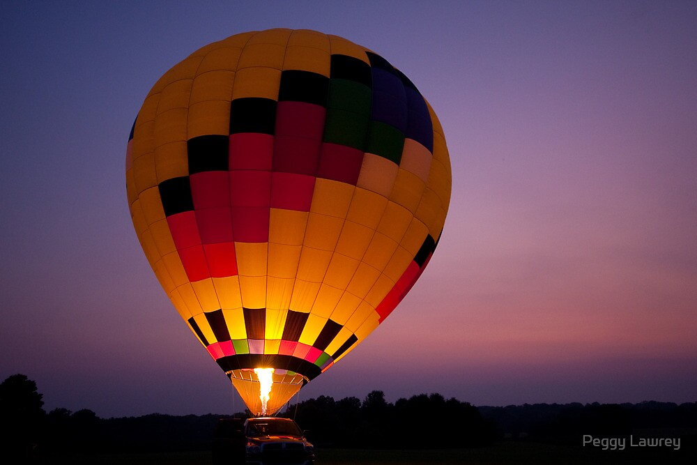 Balloon Glow by Peggy Lawrey