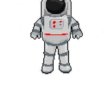 Astronaut In Outer Space | 8 Bit Pixel Art  by ctaylorscs