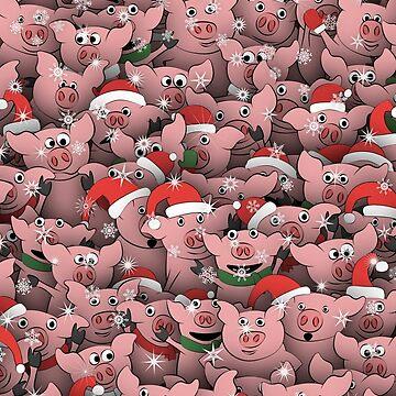 Christmas pigs by dima-v