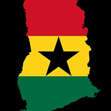 Ghana Of Country Map Shaped Flag (multi) by cnkna