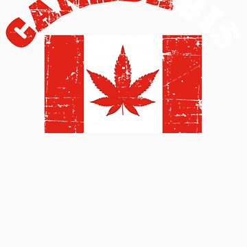 CANADABIS GIFT DISTRESSED RED AND WHITE LETTERS 4 by fungear