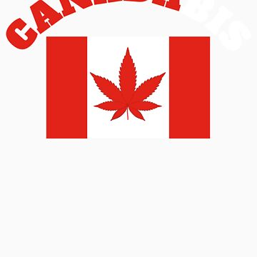 CANADABIS GIFT RED AND WHITE LETTERS by fungear