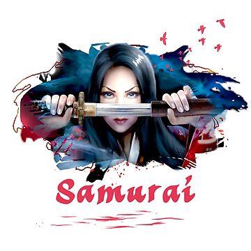 Samurai girl | Asian Fantasy Art by aronia