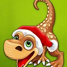 Dinosaur Baby Cute Santa Claus by BluedarkArt