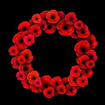 Poppy Wreath by MikePrittie