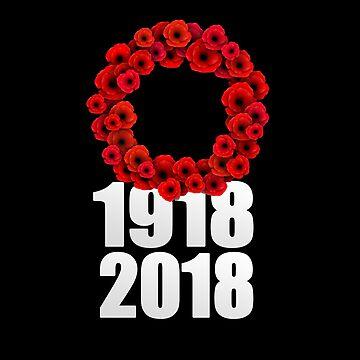 World War 1 Centennial Poppy Wreath by MikePrittie