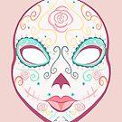 Dia de Muertos Rose Mask by AnazenArt